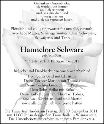 Profilbild von Hannelore Schwarz