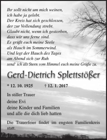 Profilbild von Gerd-Dietrich Splettstößer