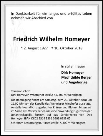 Friedrich Wilhelm Homeyer