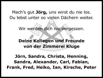 Traueranzeige für Jörg Hesseling vom 06.10.2018 aus Schaumburger Nachrichten