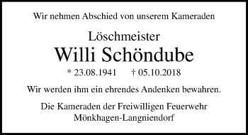 Willi Schöndube