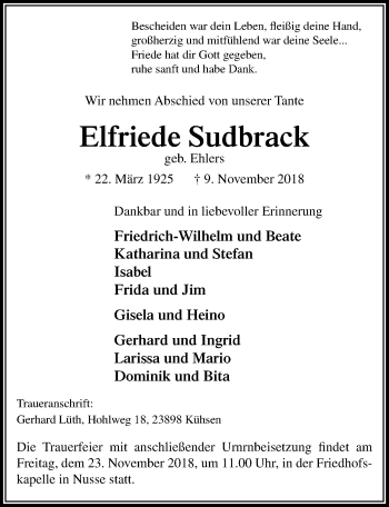 Elfriede Sudbrack