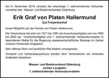 Erik Graf von Platen Hallermund