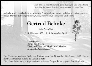 Gertrud Behnke
