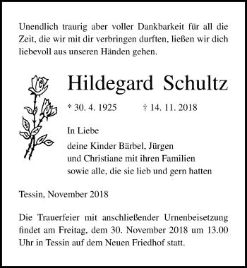 Hildegard Schultz
