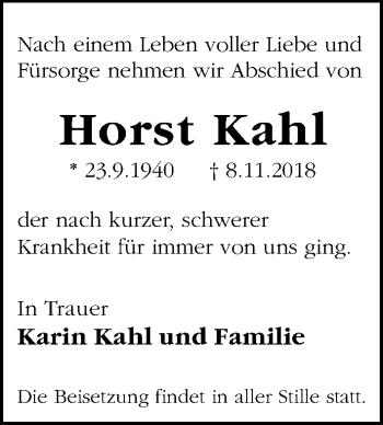 Horst Kahl