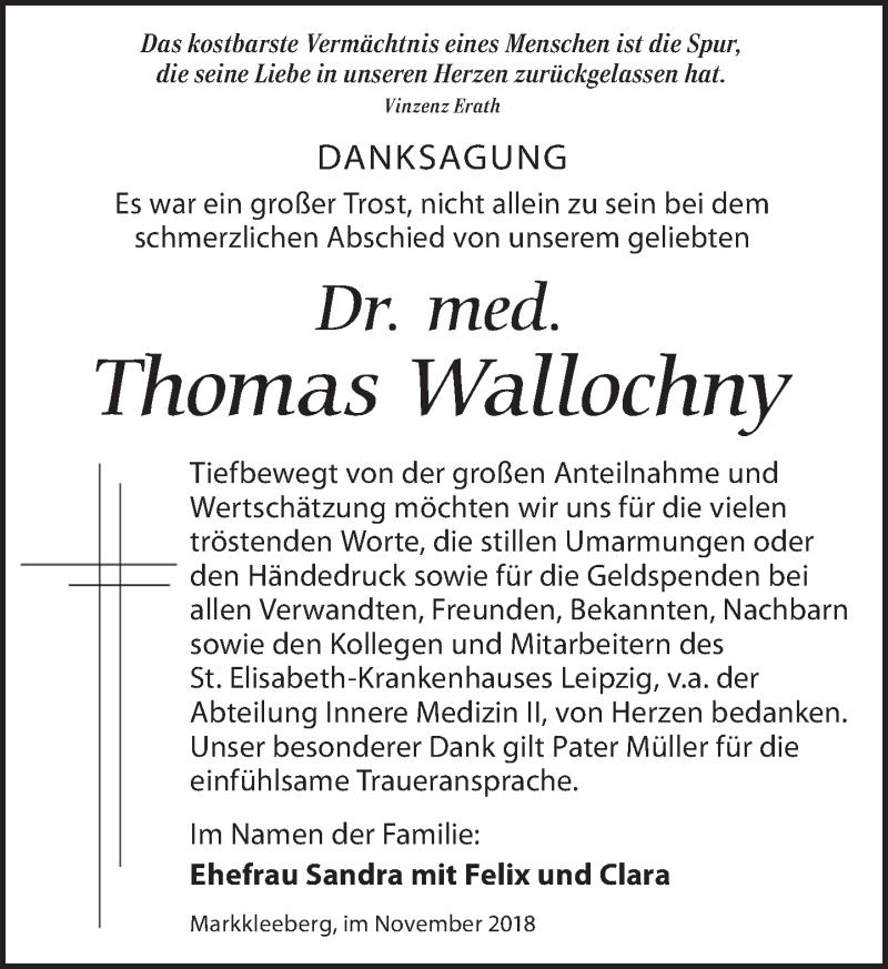 Traueranzeige von  Thomas Wallochny