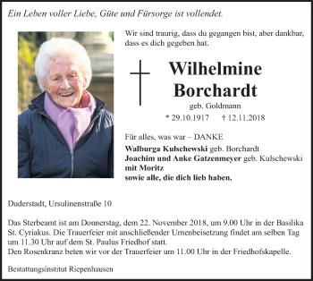 Wilhelmine Borchardt