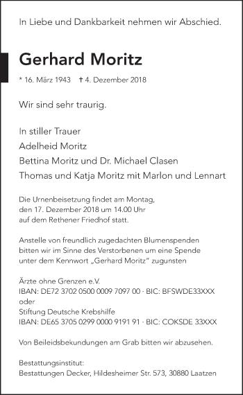 Gerhard Moritz