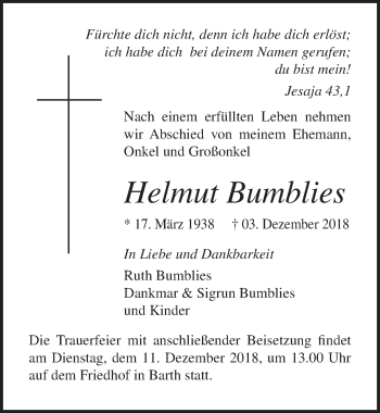 Helmut Bumblies