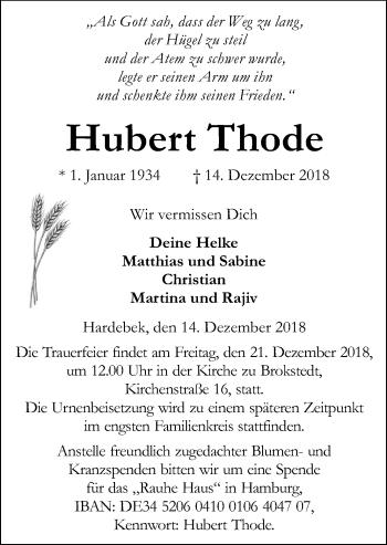 Hubert Thode