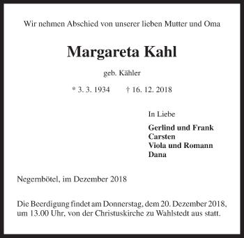 Margareta Kahl
