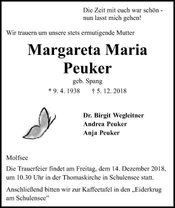 Margareta Maria Peuker