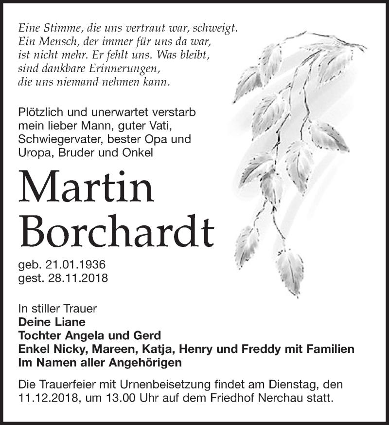 Traueranzeige von  Martin Borchardt