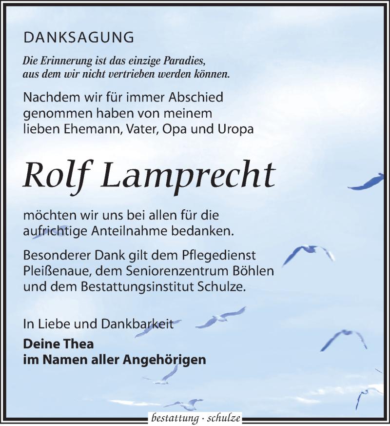 Traueranzeige von  Rolf Lamprecht