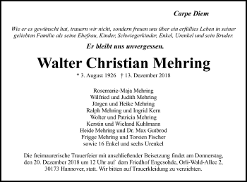Walter Christian Mehring