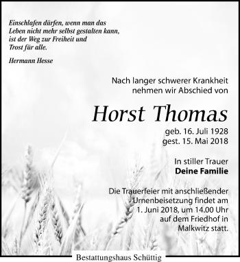 Horst Thomas