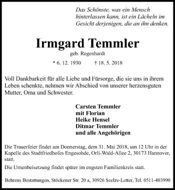 Irmgard Temmler