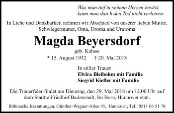 Magda Beyersdorf