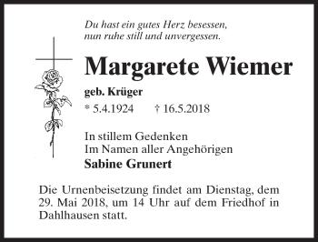 Margarete Wiemer