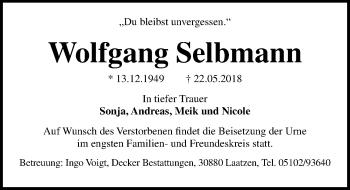 Wolfgang Selbmann