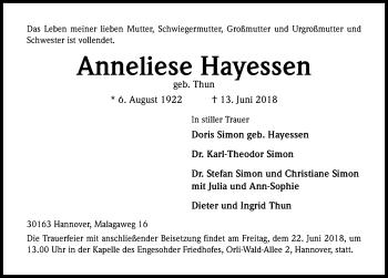 Anneliese Hayessen