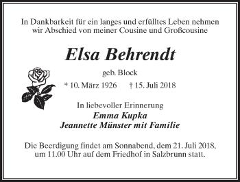 Elsa Behrendt
