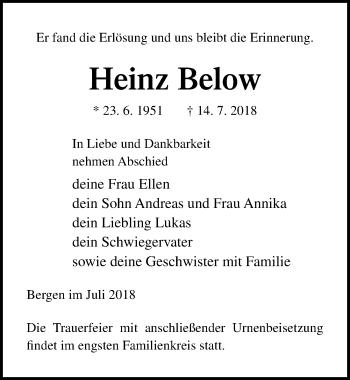 Heinz Below