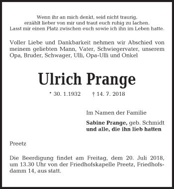 Ulrich Prange