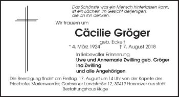 Cäcilie Gröger