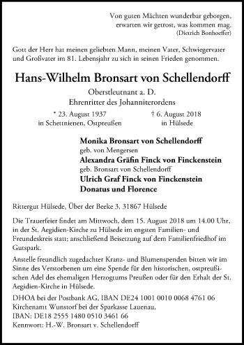 Hans-Wilhelm Bronsart von Schellendorff