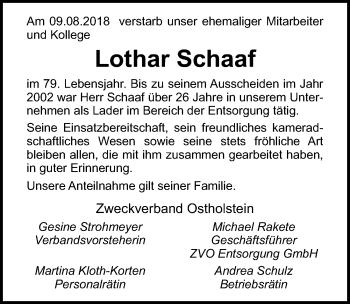 Lothar Schaaf
