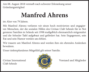 Manfred Ahrens