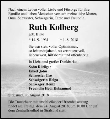 Ruth Kolberg