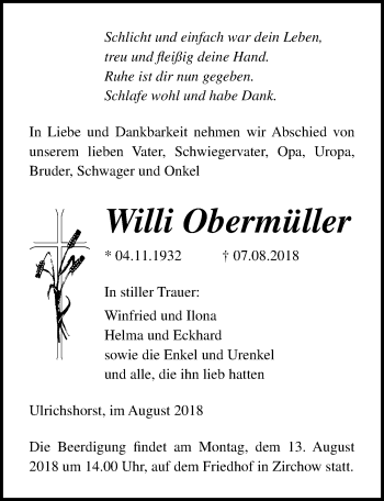 Willi Obermüller