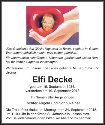 Elfi Decke