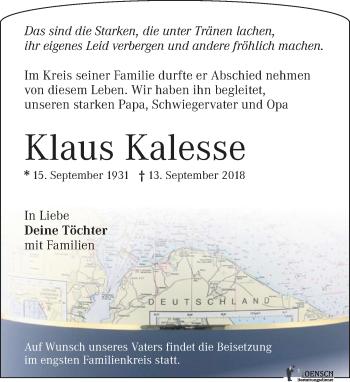 Klaus Kalesse