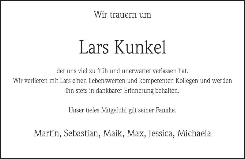 Traueranzeige von  Lars Kunkel
