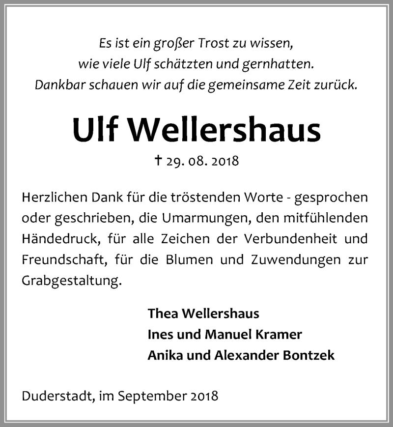 Traueranzeige von  Ulf Wellershaus