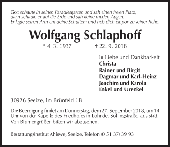 Wolfgang Schlaphoff
