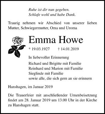 Emma Howe
