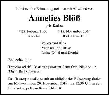 Annelies Blöß
