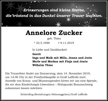 Annelore Zucker