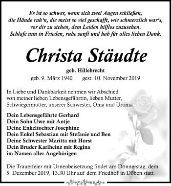 Christa Stäudte