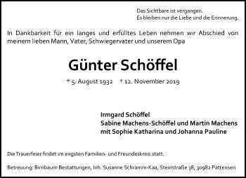 Günter Schöffel