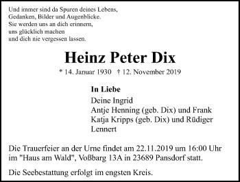 Heinz Peter Dix
