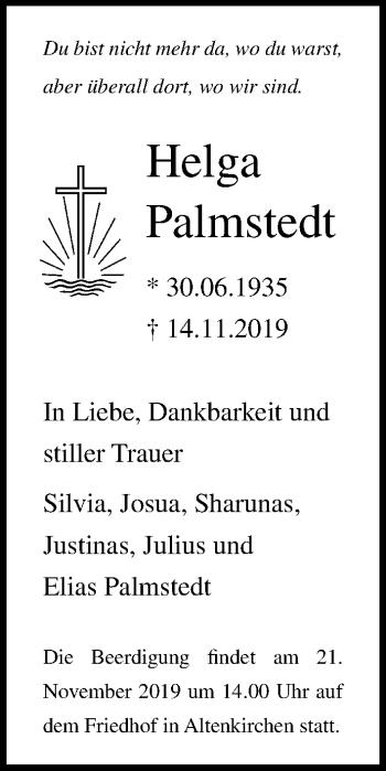 Helga Palmstedt
