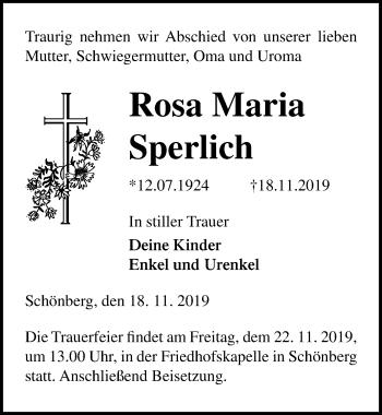Rosa Maria Sperlich