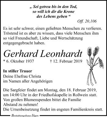 Gerhard Leonhardt