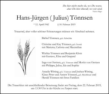 Hans Jürgen Tönnsen